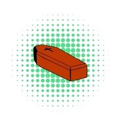 Coffin icon comics style vector