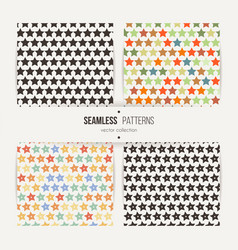 collection of star patterns vector image
