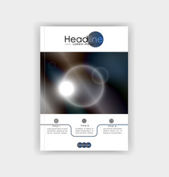 cover design futuristic circles with dark blue vector image vector image