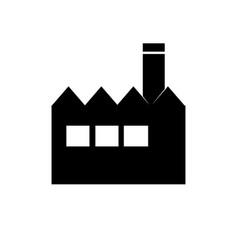 factory icon building sign vector image vector image
