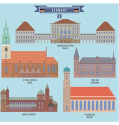 Famous Places in Germany vector image