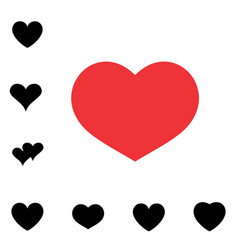 heart black and white icon vector image