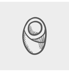 Human cell sketch icon vector