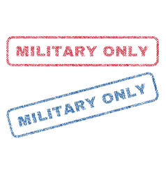 Military only textile stamps vector