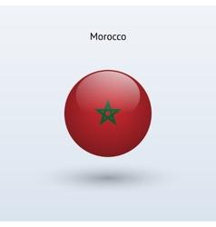 Morocco round flag vector
