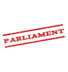 Parliament watermark stamp vector