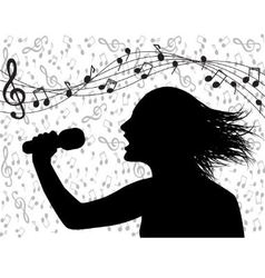 people singing and musical lineup vector image vector image