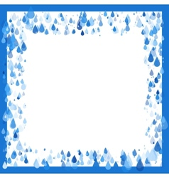 Raindrops natural background frame vector
