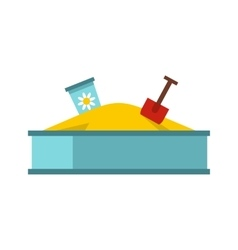 Sandbox icon in flat style vector