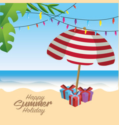 Summer merry christmas holidays vacation vector