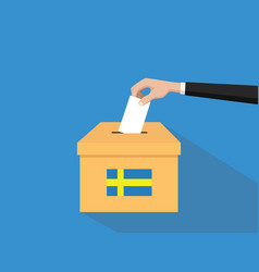 Sweden vote election concept with vector