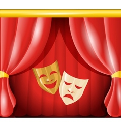 Theatre masks background vector