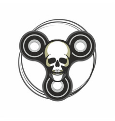 toy skull spinner vector image vector image