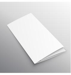 tri-fold mockup brochure design template vector image vector image