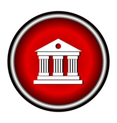 University Icon Isolated on White Background vector image