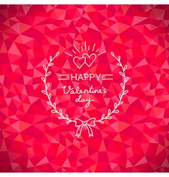Valentine crystal wreath vector image vector image