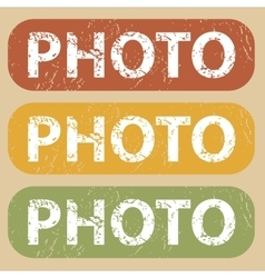 Vintage photo stamp set vector