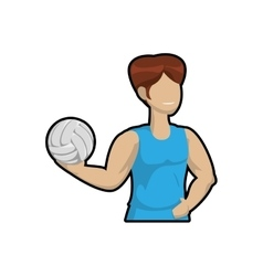 Volleyball and cartoon boy icon sport concept vector