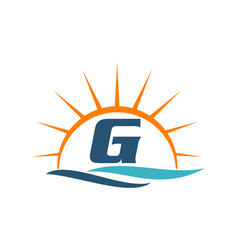 Wave sunset initial g vector