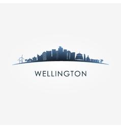 Wellington skyline silhouette vector
