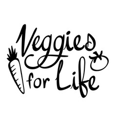 Word expression for vegetables for life vector