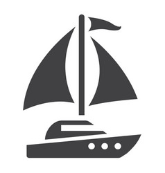 yacht solid icon travel and tourism vector image