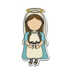 Mary holy family design vector