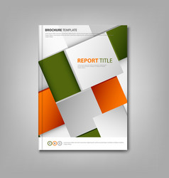 Brochures book or flyer with abstract orange green vector