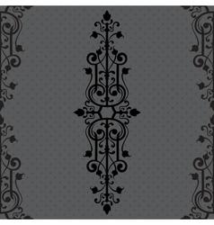 Vintage background ornament black frame vector image