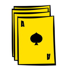 ace of spades playing card icon in icon cartoon vector image