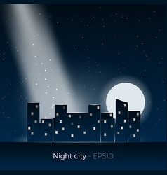 Night city silhouette vector