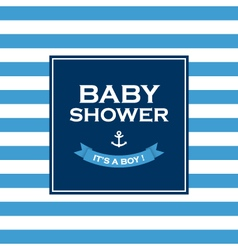 baby shower boy vector image