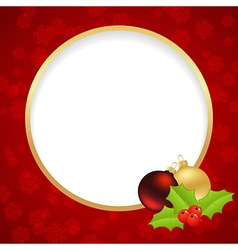 Christmas label ring vector