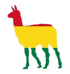 Lama Bolivia vector image