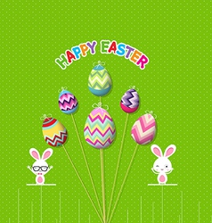 Easter eggs props card vector