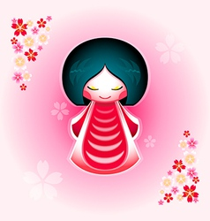 Sakura doll vector