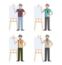 Set of artists vector