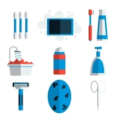 Personal hygiene flat icons vector