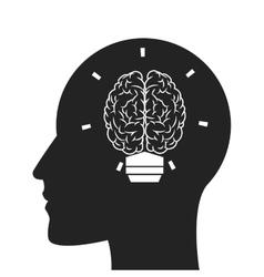 head profile silhouette vector image