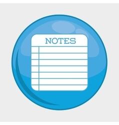 Notes button icon social media design vector