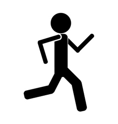Person running icon avatar vector image