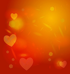 Abstract red background light glare Heart vector image