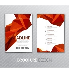 Abstract template design brochure page vector
