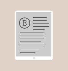 bitcoin trading design vector image