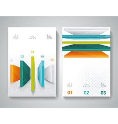 brochure design with 3d elements vector image vector image