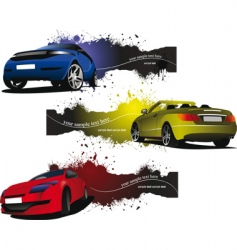car banners vector image vector image