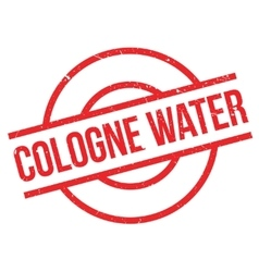 Cologne water rubber stamp vector