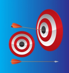 dart hitting target vector image vector image
