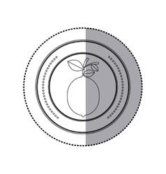 Delicious lemon fruit vector