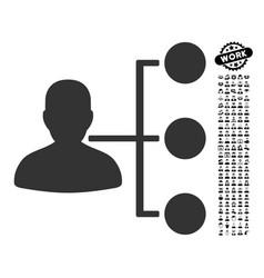 Distributor icon with people bonus vector